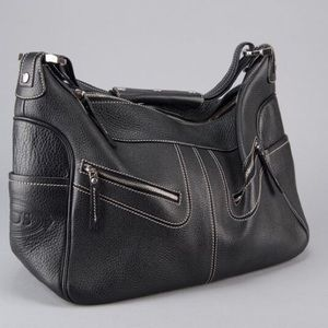 Tod's Black Pebbled Leather Miky Bag